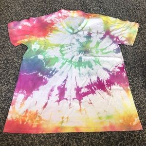 2/$8 Tie-Dyed V-Neck Fruit of the Loom Tee